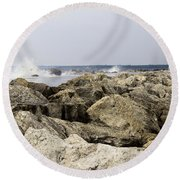 Round Beach Towel featuring the photograph The Light by Tara Lynn