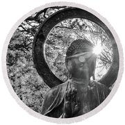 Round Beach Towel featuring the photograph The Light Within And Without by Lora Lee Chapman