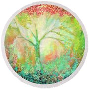 The Light Within Round Beach Towel