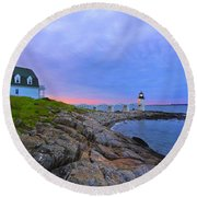The Lighthouse Keeper Round Beach Towel