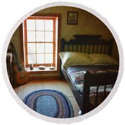 The Lighthouse Keepers Bedroom - San Diego Round Beach Towel by Glenn McCarthy Art and Photography