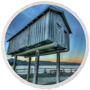 The Lightshed By Liz Magor Round Beach Towel