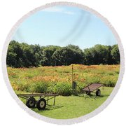 The Lilies Of The Fields Round Beach Towel