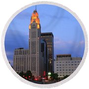 The Lincoln Leveque Tower Round Beach Towel