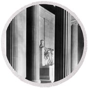 The Lincoln Memorial Round Beach Towel