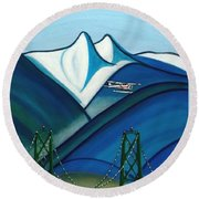 The Lions Round Beach Towel