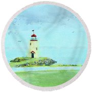 The Little Lighthouse That Could Round Beach Towel