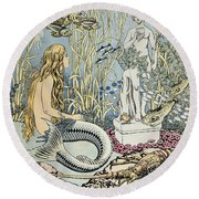 The Little Mermaid Round Beach Towel