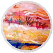The Living Dunes Round Beach Towel