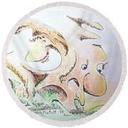 The Living Planet Round Beach Towel