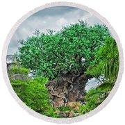 The Living Tree Walt Disney World Mp Round Beach Towel by Thomas Woolworth