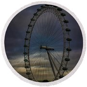 The London Eye Round Beach Towel by Martin Newman
