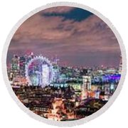 The London Skyline Round Beach Towel