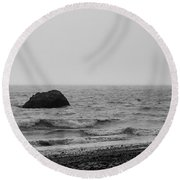 The Lone Rock Round Beach Towel