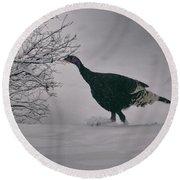 The Lone Turkey Round Beach Towel by Jason Coward