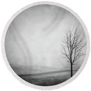 The Lonely Path Round Beach Towel