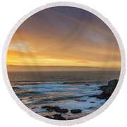 The Long View Round Beach Towel by James Heckt
