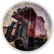 The Loose Caboose Round Beach Towel