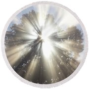 Round Beach Towel featuring the photograph The Lord Is My Light by Tara Lynn