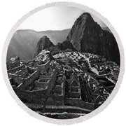 The Lost City Of The Incas Round Beach Towel