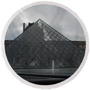 Round Beach Towel featuring the photograph The Louvre And I.m. Pei by Christopher Kirby