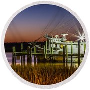 The Low Country Way - Folly Beach Sc Round Beach Towel