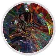 The Lucid Planet Round Beach Towel by Richard Thomas