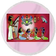 The  Lure Of Egypt Round Beach Towel