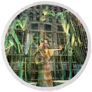 Round Beach Towel featuring the photograph The Lure Of The Wild by Alex Lapidus