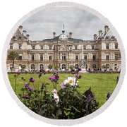 The Luxembourg Palace Round Beach Towel