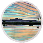 The Magic Is In The Water Round Beach Towel