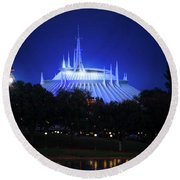 Round Beach Towel featuring the photograph The Magic Kingdom Entrance by Mark Andrew Thomas
