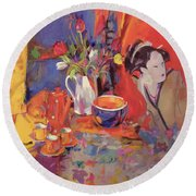 The Magical Table Round Beach Towel