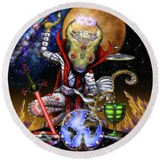 The Magician 78 Tarot Astral Card Round Beach Towel by Stanley Morrison