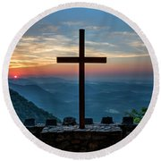 The Magnificent Cross Pretty Place Chapel Greenville Sc Great Smoky Mountains Art Round Beach Towel