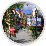 Round Beach Towel featuring the photograph The Main by Elfriede Fulda