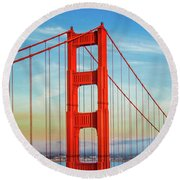 The Majestic Round Beach Towel by Az Jackson