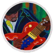 The Man  Round Beach Towel