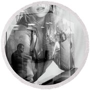 Round Beach Towel featuring the photograph The Man Inside Me by John Williams