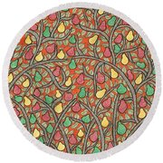 The Mango Tree Round Beach Towel