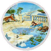 The Marble Ring Round Beach Towel by Steve Read