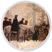 The March To Valley Forge Round Beach Towel by Mountain Dreams