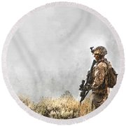 The Marine Round Beach Towel