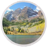 The Maroon Bells 2 Round Beach Towel