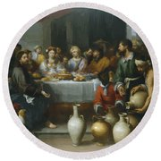 The Marriage Feast At Cana Round Beach Towel