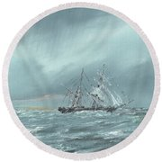 The Mary Celeste Adrift December 5th 1872 Round Beach Towel