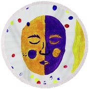 The Mask Round Beach Towel