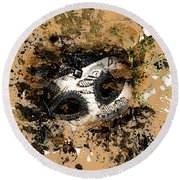 Round Beach Towel featuring the photograph The Mask Of Fiction by LemonArt Photography