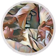 The Master's Hands - Healer Round Beach Towel by Wayne Pascall