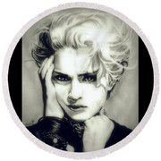 The Material Girl Round Beach Towel